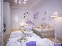 Children's room for girls classic style Stock Photo