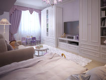 Children's room for girls classic style Royalty Free Stock Images