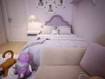 Children's room for girls classic style Stock Images