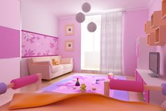 Children's room interior Royalty Free Stock Photos