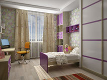 Children S Room Interior Royalty Free Stock Photography