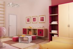 Children's room interior stock illustration