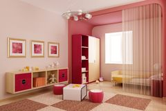 Children's room interior Stock Photo