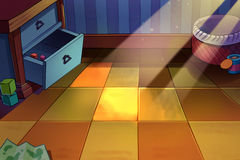 Children`s Room, A Tiny Corner with Sunlight on the Floor Stock Image