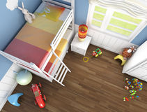Children's room top view Royalty Free Stock Images