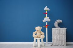 Free Children`s Room With Bright Color Wall Royalty Free Stock Photography - 107405917
