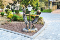 Children's roundelay. Sculpture сhildren's roundelay in the Seaside Boulevard Royalty Free Stock Image
