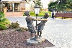 Children's roundelay. Sculpture сhildren's roundelay in the Seaside Boulevard Royalty Free Stock Photos