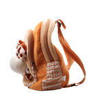 Children's Rucksack. Isolated on a white background Stock Images