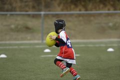 children& x27;s rugby royalty free stock photography