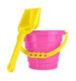 Children's Sand Bucket and Shovel Stock Photo
