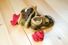 Children's sandals Stock Images