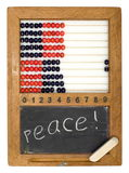 Children's school board and abacus. Made in the fifties last century Stock Images