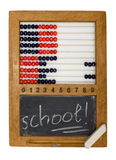 Children's school board and abacus. Made in the fifties last century Royalty Free Stock Images
