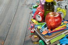 Children's school supplies Stock Images