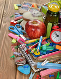 Children's school supplies Stock Photos