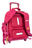 Children's school trolley bag red color Royalty Free Stock Images