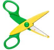 Children's scissors isolated on white Royalty Free Stock Image