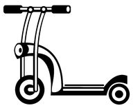 Childrens scooter on white Royalty Free Stock Photo