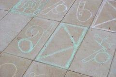 Children's scribbles Stock Image