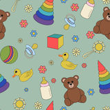 Children's  seamless pattern. Royalty Free Stock Photo