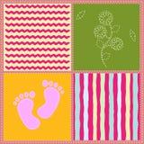 Children`s seamless pattern. Vector illustration. Children`s seamless pattern. For a girl. Vector illustration Stock Photo