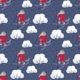 Funny wolf pattern Royalty Free Stock Photography