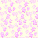 Children`s seamless pattern with pink elephants. Children`s seamless gentle pattern with pink elephants Royalty Free Stock Image