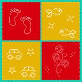 Children`s seamless pattern. Vector illustration. Children`s bright seamless pattern. Vector illustration Stock Image