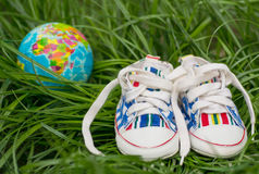 Children's shoes royalty free stock photos