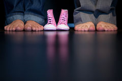 Children's shoes and feet Stock Photography