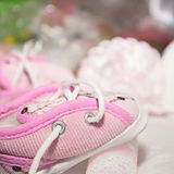 Children's shoes. Children's shoes and prepare for baptism Stock Image