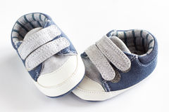 Children's shoes on  white background Royalty Free Stock Photography