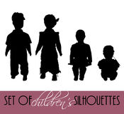 Children's silhouettes Stock Photo
