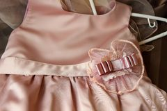Children's silk dress Stock Photography