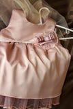 Children's silk dress Stock Photos