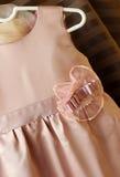 Children's silk dress Stock Images