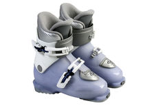 Children's Ski boots. Royalty Free Stock Images