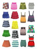Children's skirts and sundresses Stock Photography
