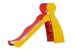 Children's slide isolated on white background Royalty Free Stock Photo