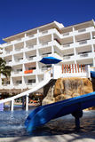 Children's slide for pool in hotel Stock Photos