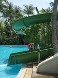Children's slide of swimming pool Stock Photography