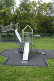 Children's slide. A view of a child's slide in a playground Stock Image
