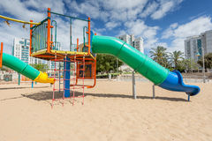 Children S Slides And Playgrounds. PlayGround Park Stock Photo