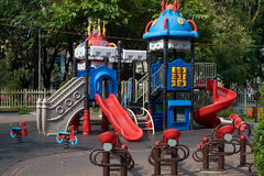 Children's slides in a park in Ho Chi Minh City Royalty Free Stock Image