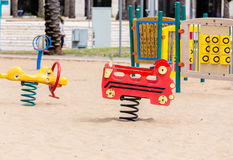 Children's slides and playgrounds. PlayGround Park Royalty Free Stock Photography