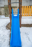 Children`s slides and playgrounds Stock Photos