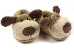 Children's slippers on a white background. Stock Photography