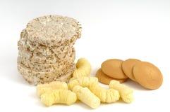 Children's snacks. Children's healthy snacks on a white background Stock Photo