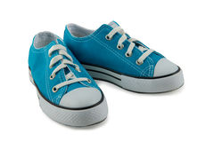Children`s sneakers isolated on a white background Royalty Free Stock Images